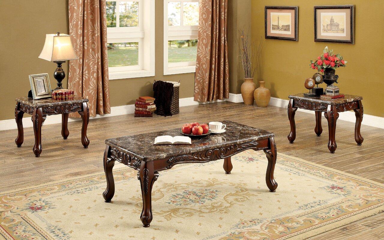 Doory 3 Piece Coffee Table Set