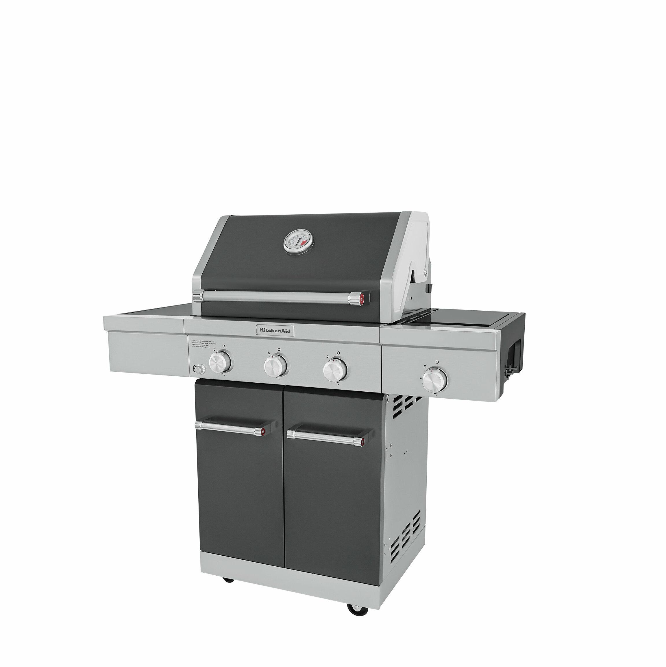 KitchenAid 3 Burner Convertible Gas Grill | Wayfair