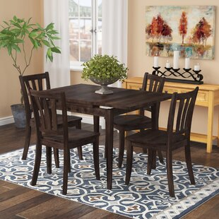 Pico 5 Piece Extendable Solid Wood Dining Set