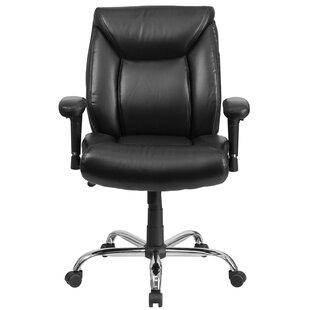 Symple Stuff Laduke Mid-Back Leather Desk Chair