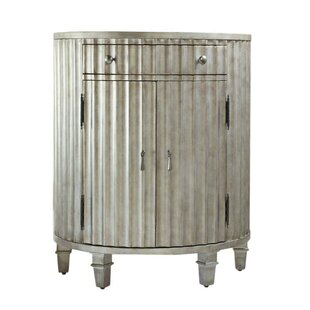 Melange Fluted Demilune 1 Drawer Accent Cabinet by Hooker Furniture