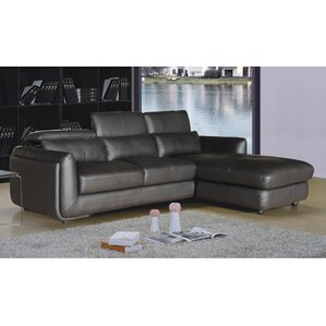 Ron Leather Sectional by AC Pacific