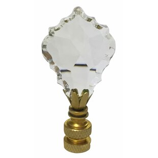 Urbanest Crystal Anne Lamp Finial 2-inch Tall Black