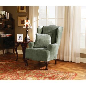 Strech Royal Diamond T-Cushion Wingback Slipcover