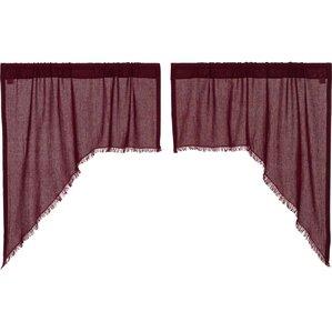Good Devid Fringed Swag Kitchen Curtain (Set Of 2)