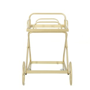 Ehrlich Outdoor Modern Bar Serving Cart