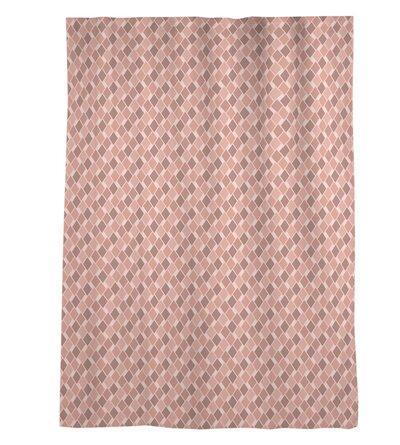 Avicia Retro Diamonds Window Geometric Sheer Rod Pocket Single Curtain Panel