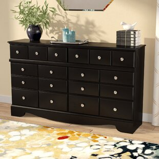Chittum 6 Drawer Double Dresser