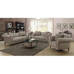 Alcott Hill Haygood 3 Piece Living Room Set