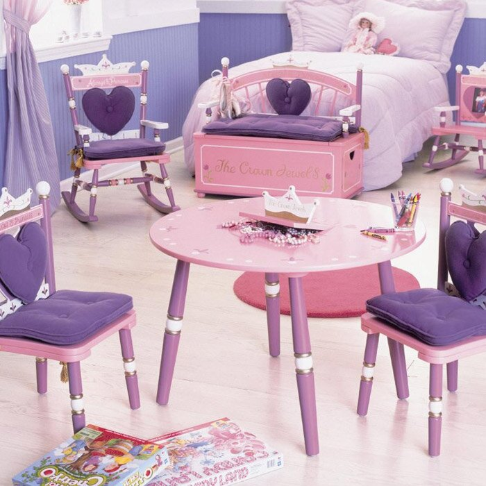 Wildkin Kids Princess 3 Piece Table And Chair Set Reviews Wayfair