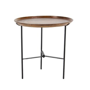 Winthrop Rustic Round End Table