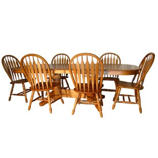 August Grove Sapphire 7 Piece Traditional Dining Set