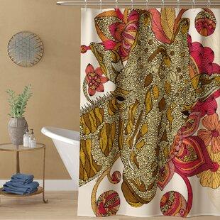 Deepak The Giraffe Single Shower Curtain