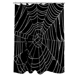 All Over Spider Webs Single Shower Curtain