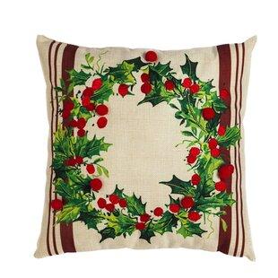 Dolan Traditional Wreath Throw Pillow