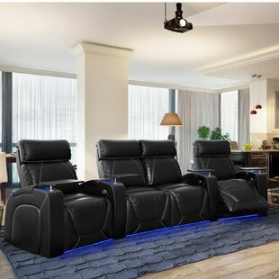 Zone HR Series Curved Home Theater Row Seating Row of 4