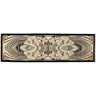 Shop for One-of-a-Kind Shalimar Hand-Knotted Black Area Rug By Darya Rugs