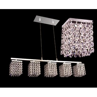 Bedazzle 5-Light Kitchen Island Pendant by Classic Lighting