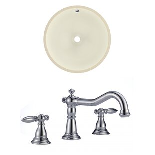 Compare prices Ceramic Circular Undermount Bathroom Sink with Faucet and Overflow ByRoyal Purple Bath Kitchen