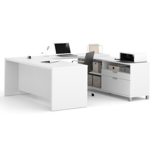 Read Reviews Pham 3-Piece U-Shape Desk Office Suite By Wrought Studio