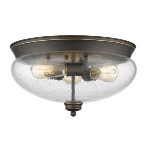 Casselman 3-Light Glass Shade Flush Mount