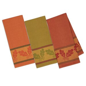 Autumn Acorn Jacquard Dishtowel (Set of 3)