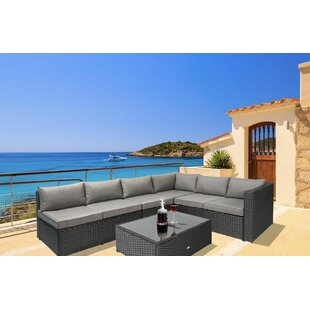 Fewell 5 Piece Sofa Set with Cushions