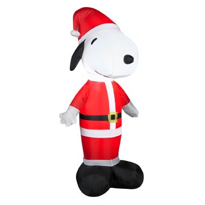 inflatable peanuts led lighted snoopy santa claus christmas yard art decoration - Snoopy Christmas Yard Decorations