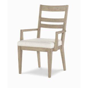 One Allium Way Amina Slat Back Upholstered Dining Chair (Set of 4)