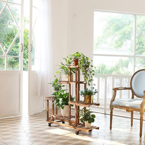 Millwood Pines Munos Free Form Multi Tiered Plant Stand Reviews Wayfair