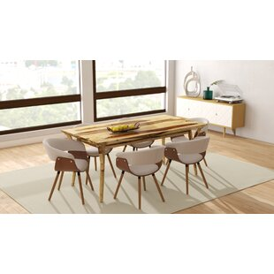 Chison 7 Piece Solid Wood Dining Set