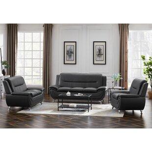 Liska 3 Piece Faux Leather Living Room Set by Ivy Bronx