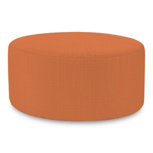 Lund Seascape Canyon Universal Round Outdoor Ottoman with Sunbrella Cushion by Rosecliff Heights