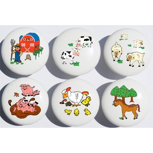 Animal Farm Circle Novelty Knob (Set of 6)