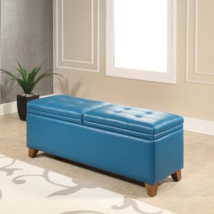 Red Barrel Studio Burroughs Leather Storage Bench