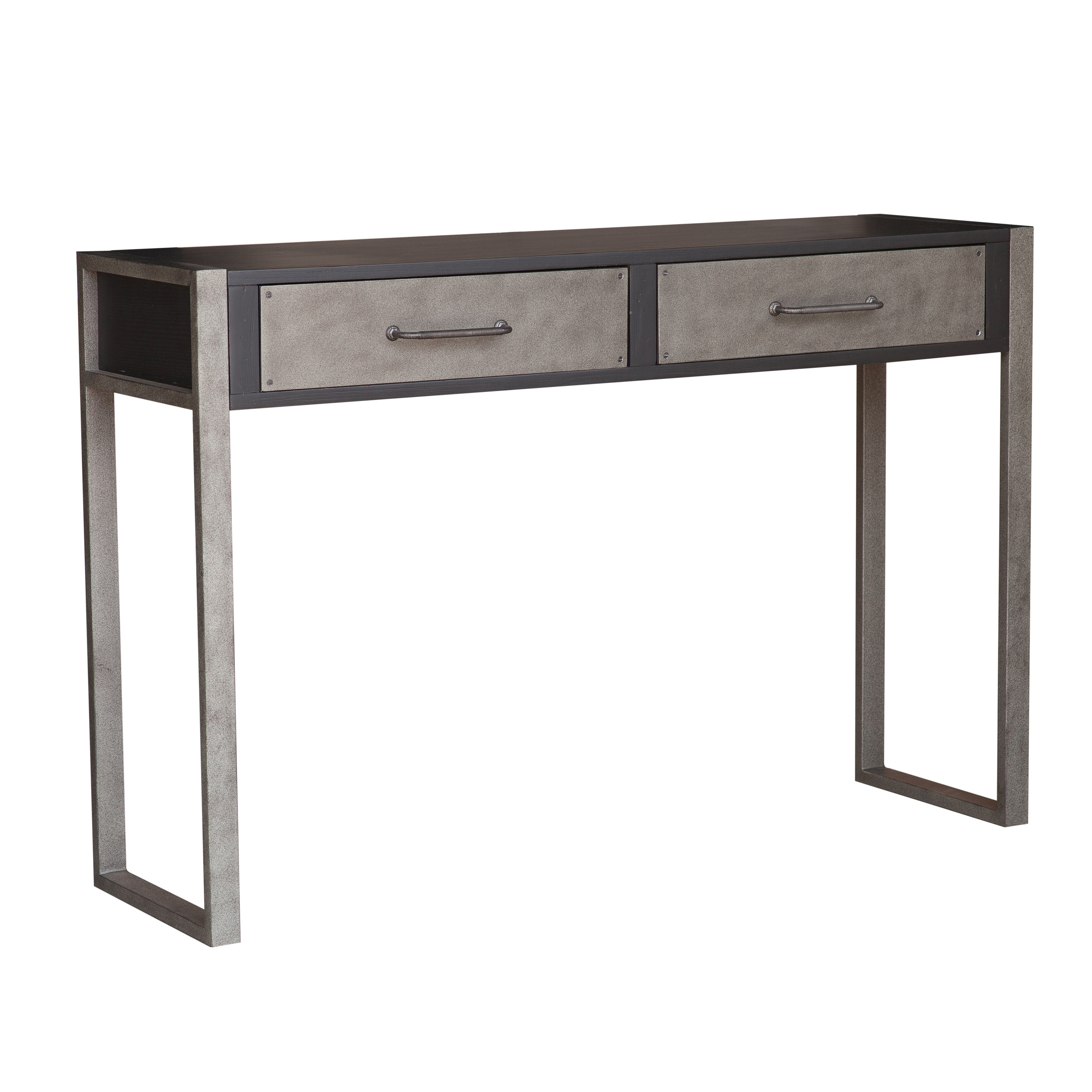 Bledsoe Distressed 2 Drawers Storage Console Table