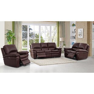 Anvi 3 Piece Reclining Living Room Set by