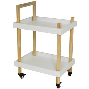 Bellwether Wood Two Tier Drinks Serving Cart By 17 Stories