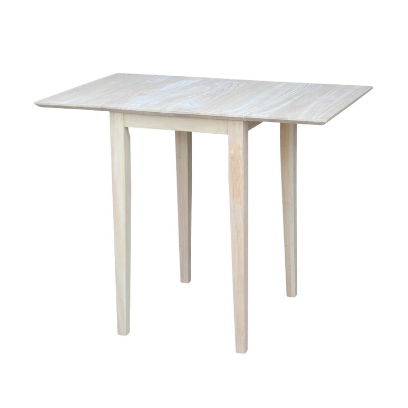 Drop Leaf Rubberwood Solid Wood Dining