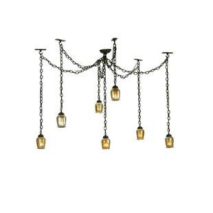 Castilian Favrile Adjustable 7-Light Pendant by Meyda Tiffany