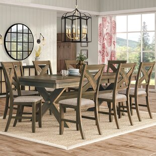 Gracie Oaks Poe 9 Piece Extendable Dining Set