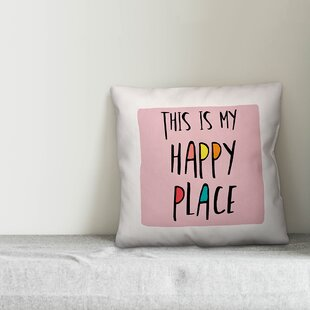 My Happy Place Pillow Wayfair