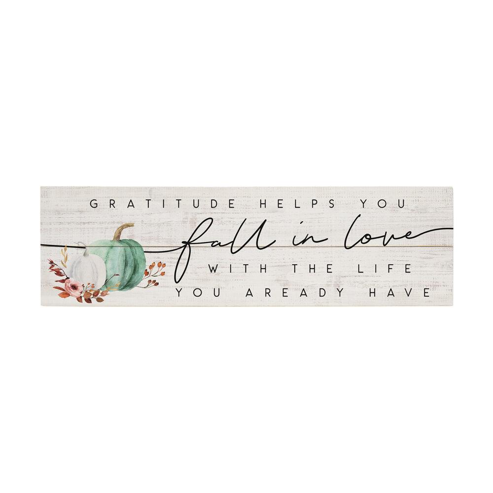 Gracie Oaks Gratitude Fall In Love Wall Décor Wayfair