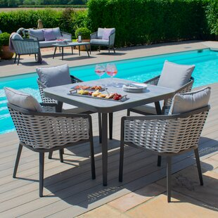 Coleville 4 Seater Dining Set With Cushions By Sol 72 Outdoor