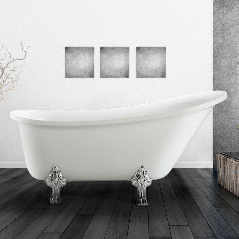 213063 Bat Wh S Jacqueline 63 X 28 Soaking Bathtub