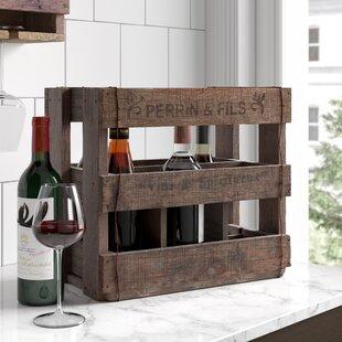 Mccarthy 6 Bottle Tabletop Wine Rack By Borough Wharf
