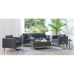 Charters Towers 4 Piece Rattan Sofa Set with Cushions