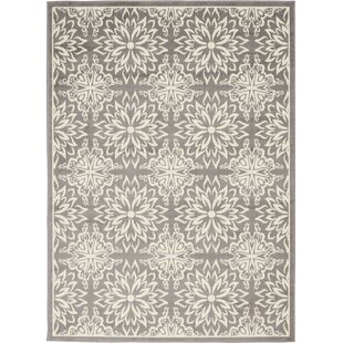 Boggess Floral Ivory/Gray Area Rug by Bungalow Rose