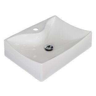 Purchase Ceramic 22 Wall Mount Bathroom Sink By American Imaginations