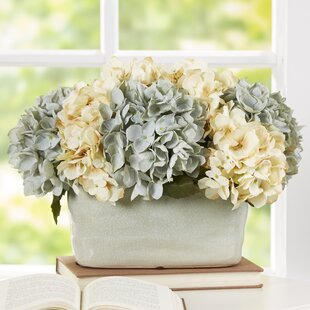 Flower centerpieces youll love wayfair hydrangea centerpiece in planter mightylinksfo Images
